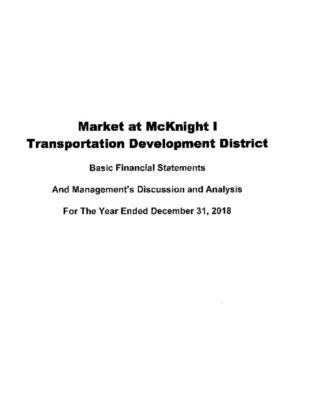 thumbnail of MARKET AT MCKNIGHT I TDD 2018 AUDIT REPORT