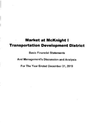 thumbnail of MARKET AT MCKNIGHT I TDD 2019 AUDIT REPORT