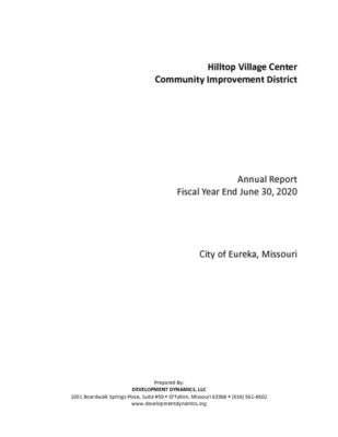 thumbnail of Hilltop Villiage Center CID 2020 Annual Report