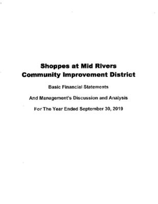 thumbnail of SHOPPES AT MID RIVERS CID 2019 AUDIT REPORT