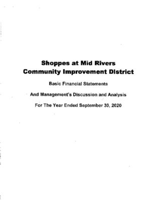 thumbnail of SHOPPES AT MID RIVERS CID 2020 AUDIT REPORT