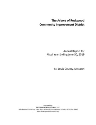 thumbnail of The Arbors of Rockwood CID Annual Report FYE 2019